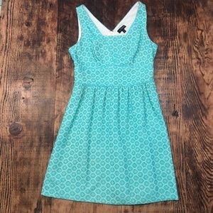 The Limited Embroidered Teal Dress with Pockets